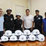 Guardas Municipais recebem capacetes policiais