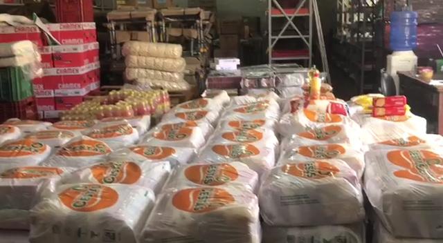 Cestas básicas e kit's higiene são distribuídos a beneficiários do Bolsa família em PL